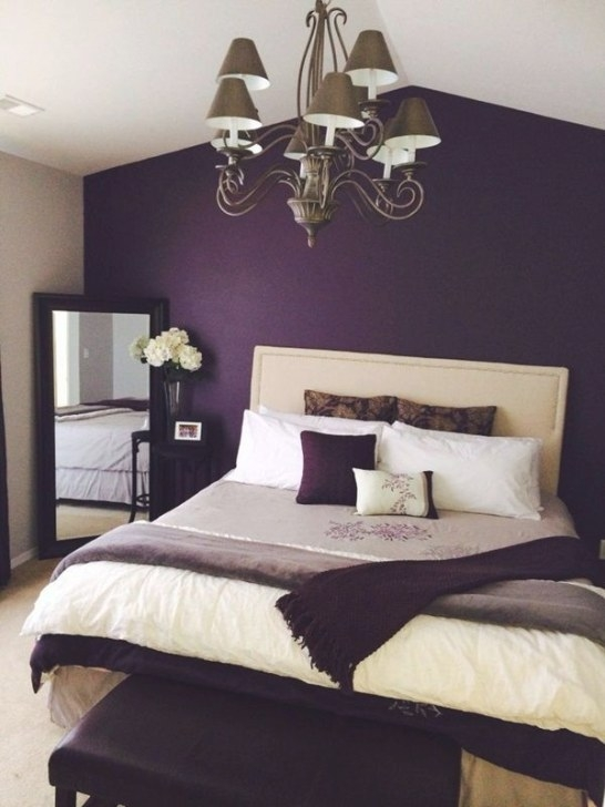Latest 30 Romantic Bedroom Ideas To Make The Love Happen inside Purple Accent Wall Bedroom