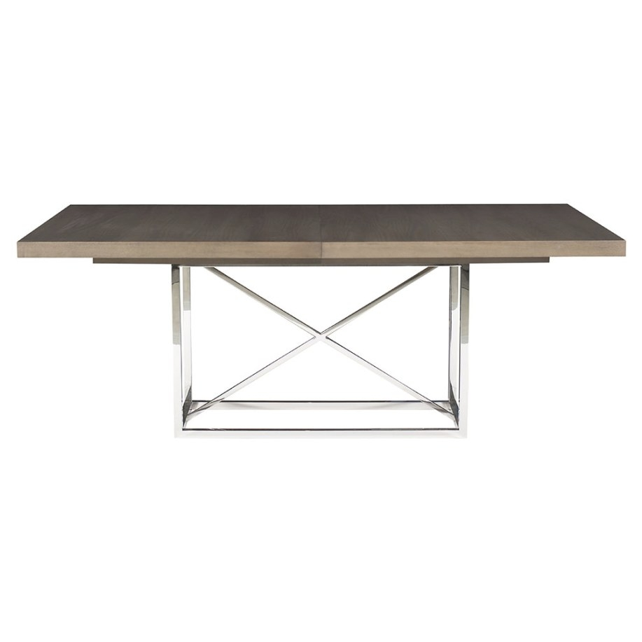 Lex Dining Table - Ash Wood Top | Custom Finish pertaining to Stainless Steel Table Top