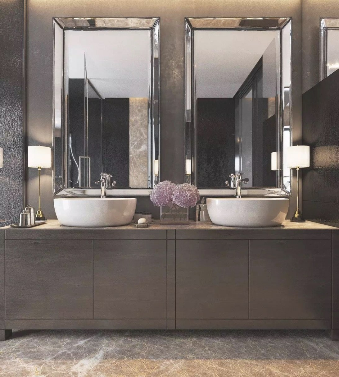 Like The Warmth Of The Vanity Bet Too Contemporary throughout Modern Lighted Mirrors For Bathrooms