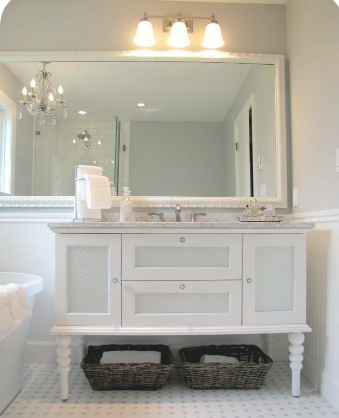 Love The Idea Of Adding Legs, Making A Higher Stand Alone in Stand Alone Vanities For Bathrooms