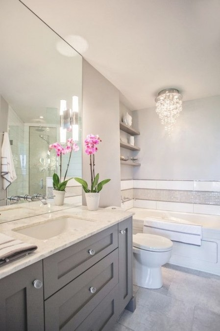 Madison Taylor Design - Bathrooms - White And Grey Bath pertaining to Grey And White Bathroom