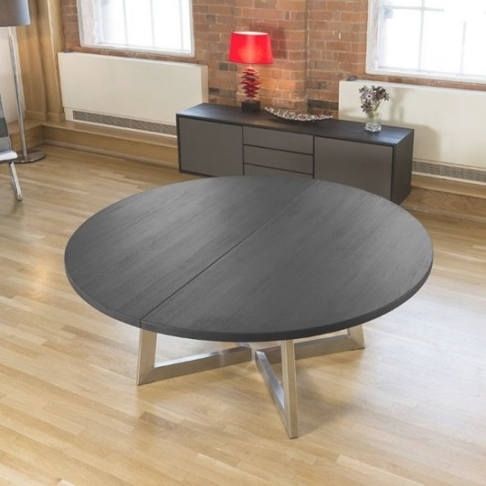 Massive 1.8 - 2.8M Extending Round / Oval Dining Table Oak regarding 8 Person Dining Table