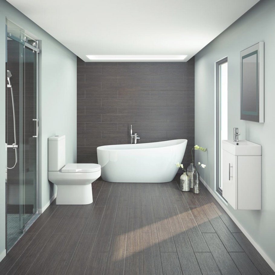 Miami Modern Slipper Bathroom Suite | Available At regarding Images Of Modern Bathrooms