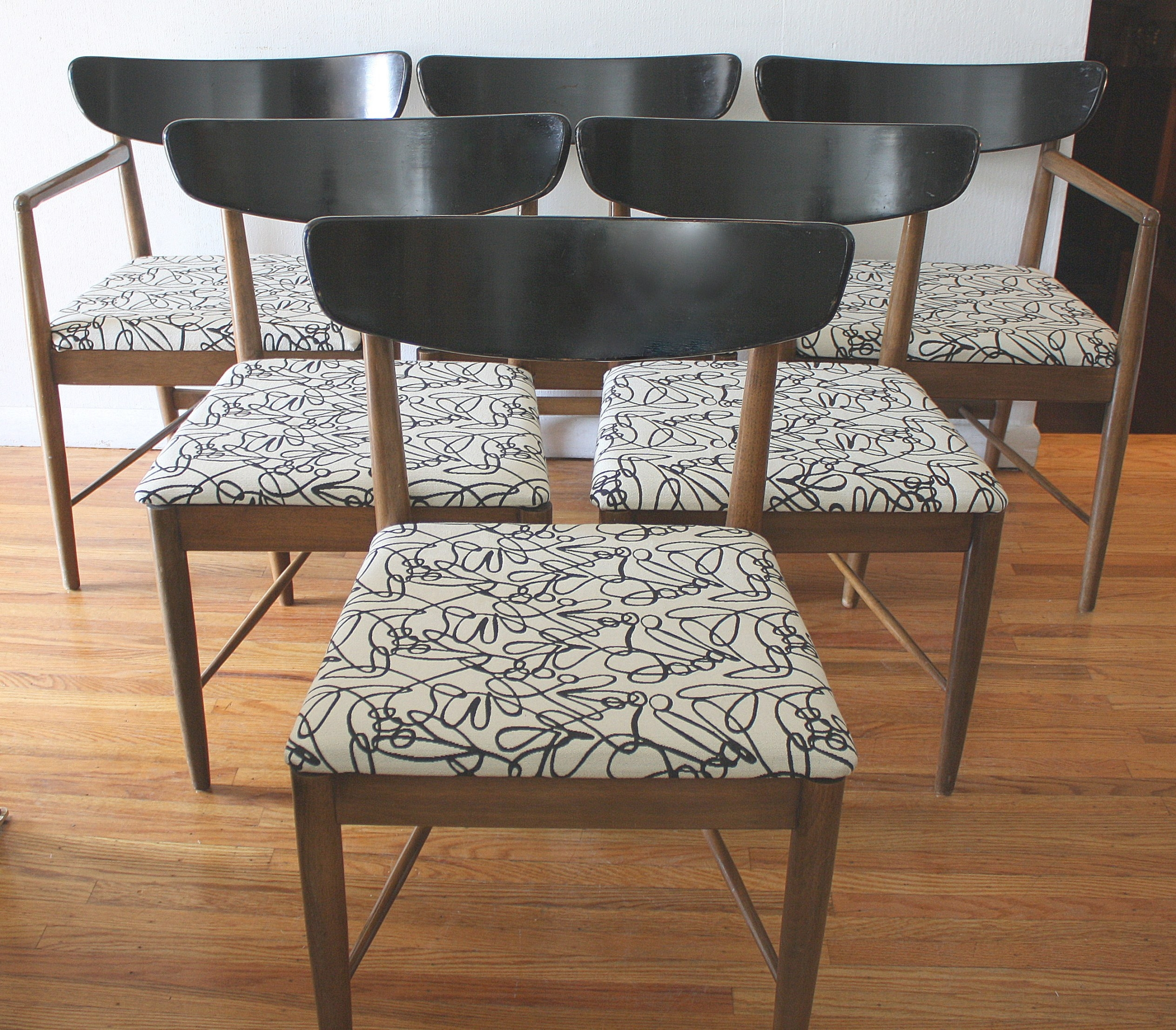 Mid Century Modern Dining Chair Sets | Picked Vintage inside Mid Century Modern Dining Set