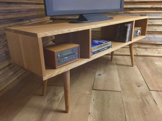 Mid Century Modern Tv Stand/Entertainment Console regarding Mid Century Modern Media Console