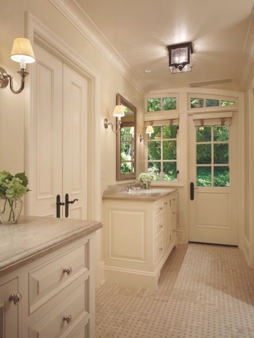 Mirrored Bathroom Vanity - Transitional - Bathroom with regard to Mixing Chrome And Brushed Nickel Finishes In Bathroom