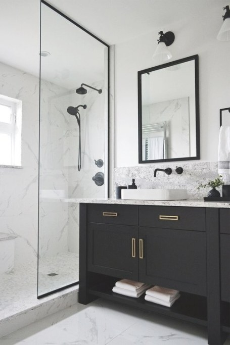 Mixing Metal Finishes In The Bathroom | Centsational Style with regard to Mixing Chrome And Brushed Nickel Finishes In Bathroom