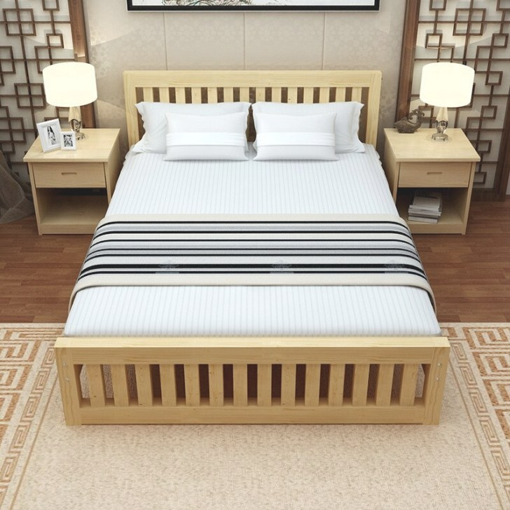 Modern 100% Solid Wood Pine Twin ,Full Platform Bed With in Twin Platform Bed Frame