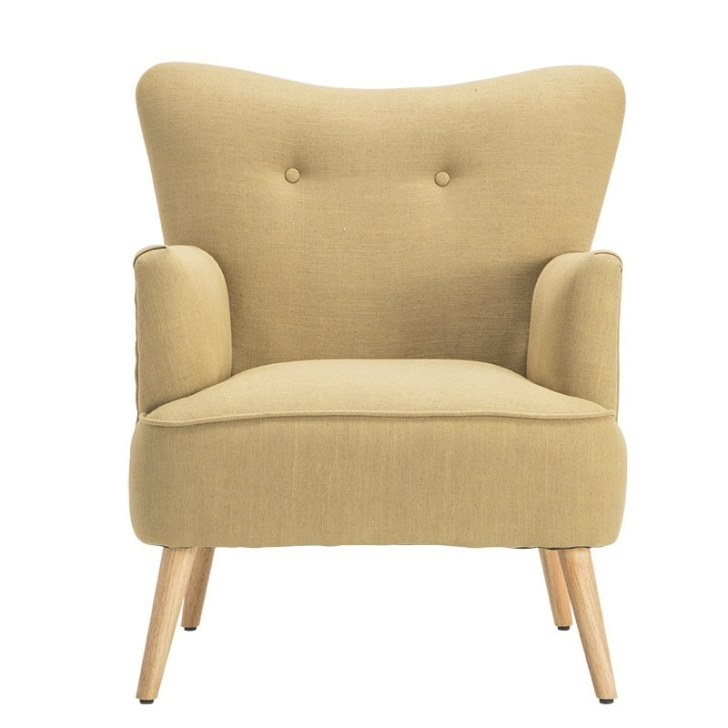 Modern Armchair Chair Wooden Leg Home Furniture Living pertaining to Armchairs And Accent Chairs
