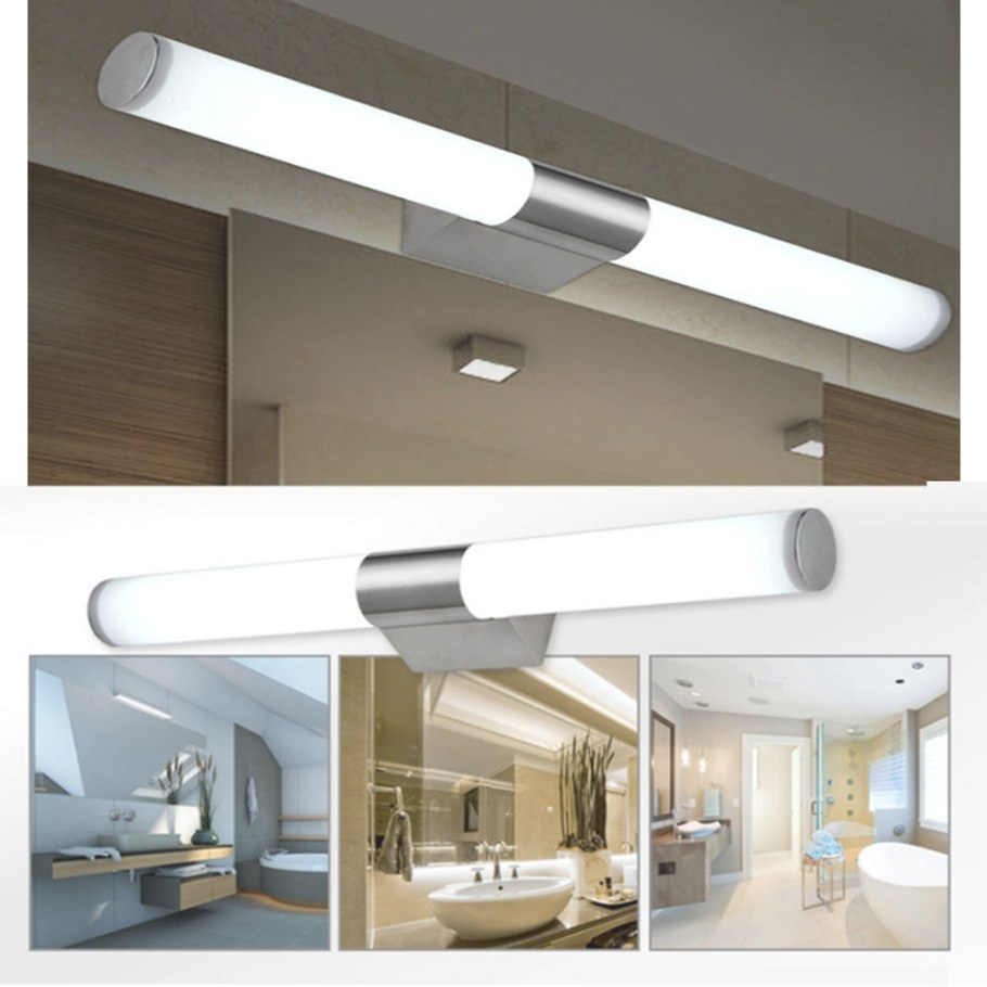 Modern Bathroom Led Front Mirror Light Toilet Make-Up with Modern Lighted Mirrors For Bathrooms
