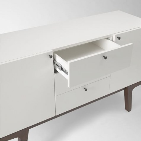 Modern Media Console - White | West Elm within Mid Century Modern Media Console