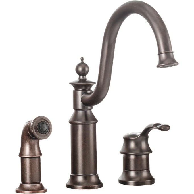 Moen S711Orb Waterhill One Handle Kitchen Faucet In Oil intended for Oil Rubbed Bronze Kitchen Faucet