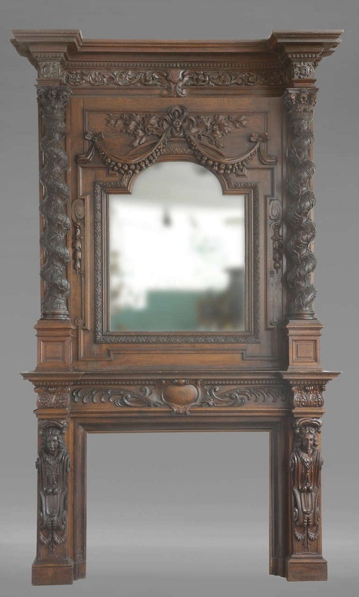 Monumental Antique French Figural Fireplace For Sale At inside Fireplace Mantels For Sale