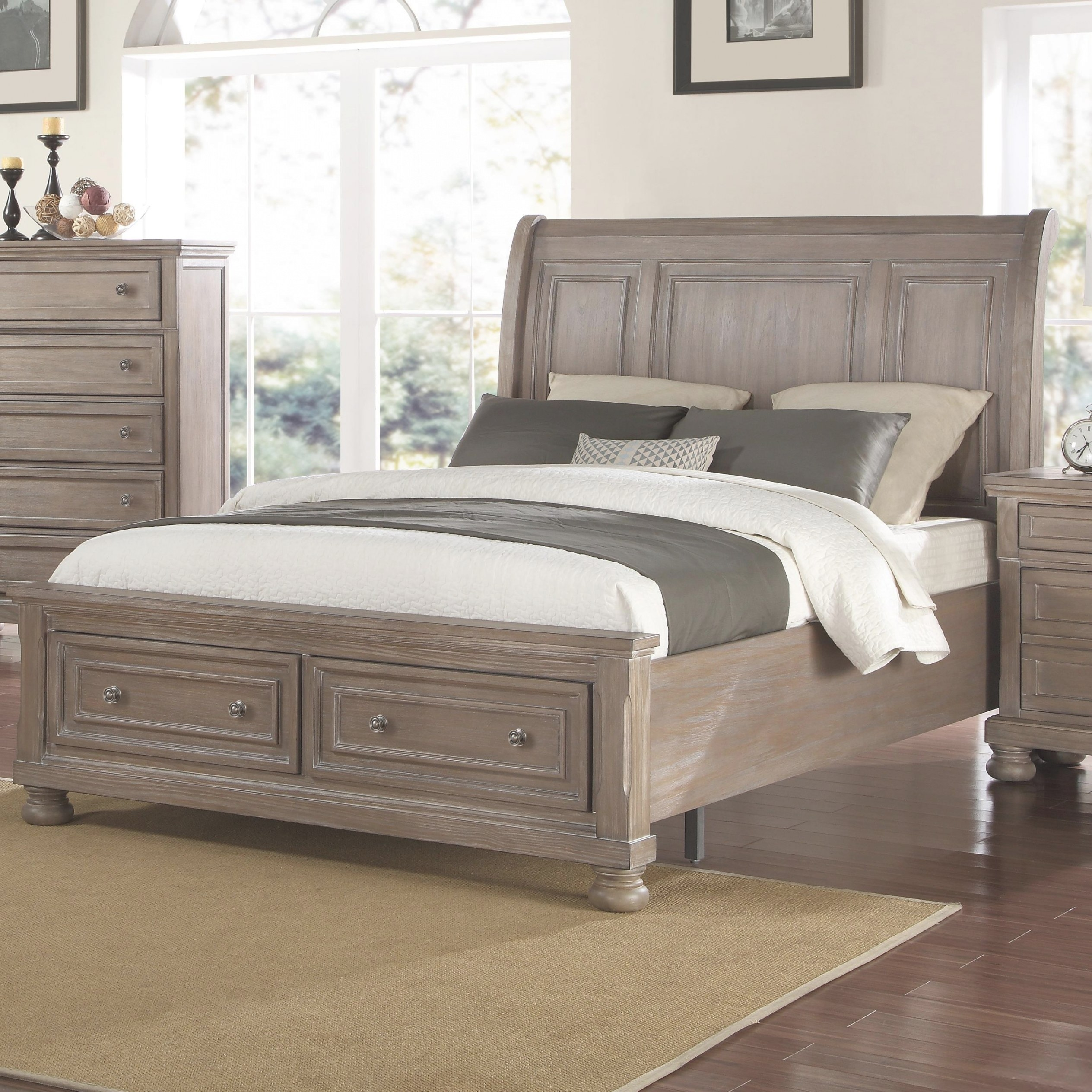 New Classic Allegra King Low Profile Bed With Footboard inside Low Profile Bunk Beds