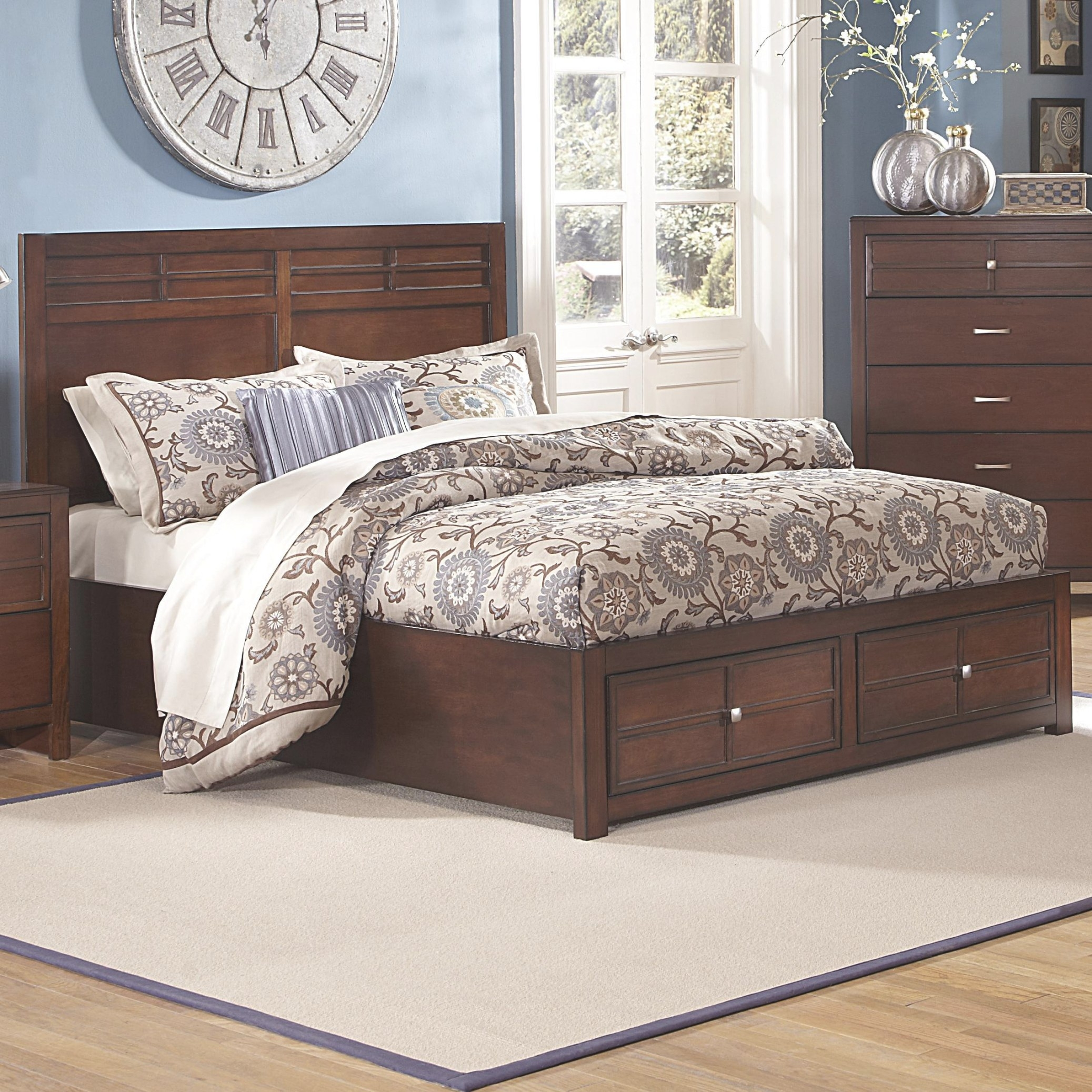 New Classic Kensington Queen Low-Profile Bed With Storage with regard to Queen Platform Bed With Storage And Headboard