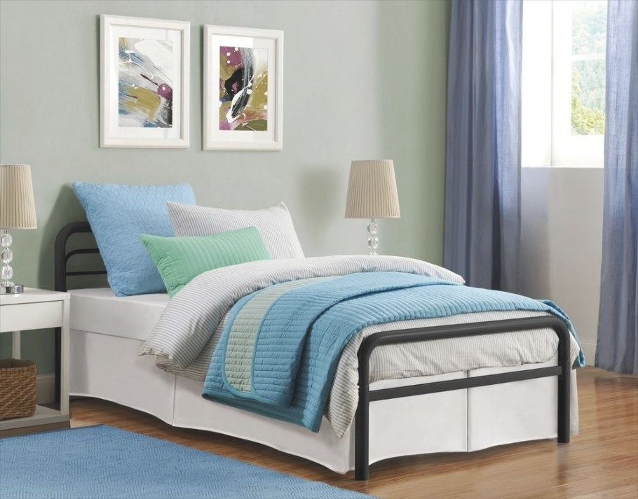 New Twin Size Metal Platform Bed Frame With Headboard with regard to Twin Platform Bed Frame