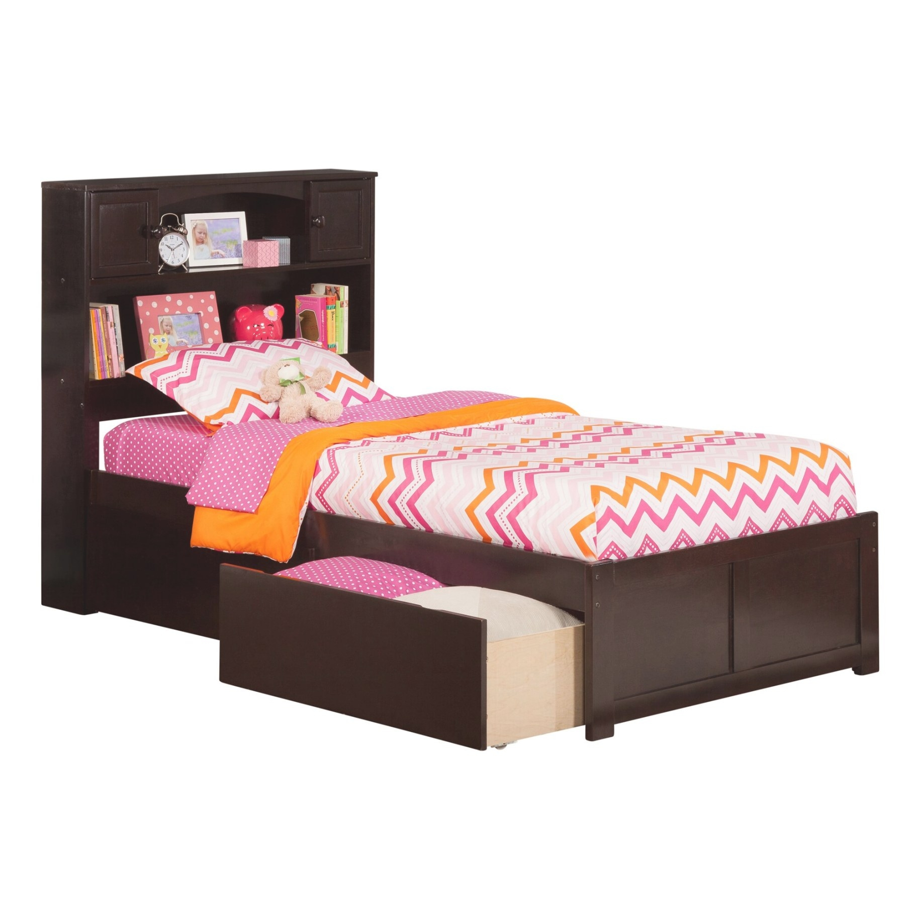 Newport Extra Long Twin Platform Bed With Storage   Wayfair intended for Twin Xl Platform Bed