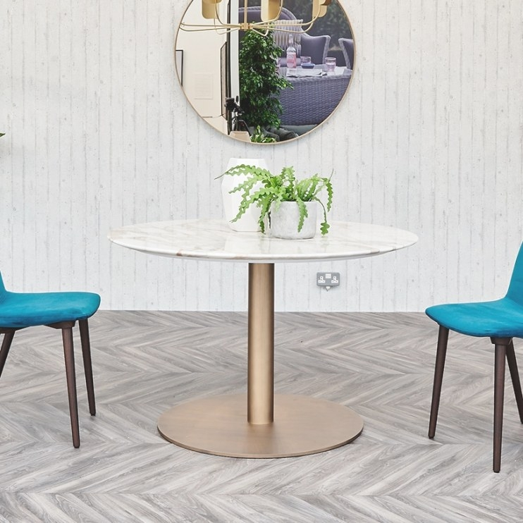 Opera Round Marble Dining Table, Contemporary throughout Round Marble Dining Table