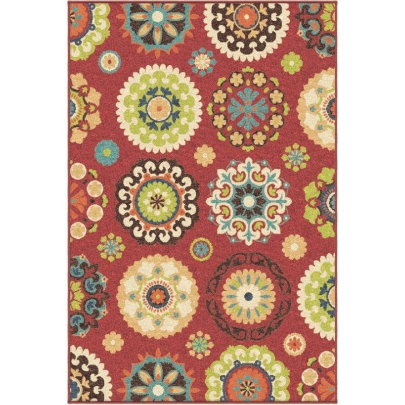 Orian Rugs Promise Red Indoor/Outdoor Area Rug (Common: 5 with regard to 5 X 7 Rugs
