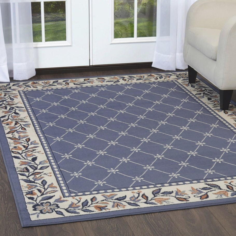 Oriental Blue Area Rug 4 X 6 Small Persian Carpet 15 for 5 X 7 Rugs