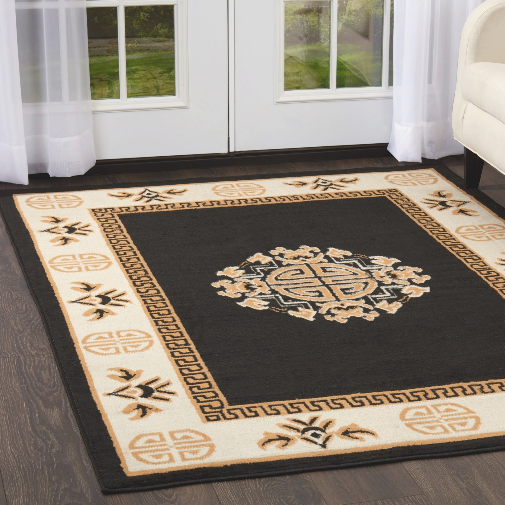 Oriental Medallion Area Rug Traditional 5X7 Persian Carpet within 5 X 7 Rugs