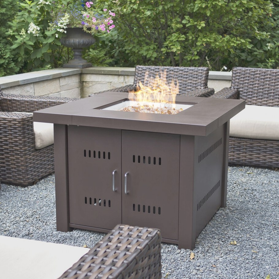 Outdoor Fire Pit Table Patio Deck Backyard Heater throughout Propane Fire Pit Table