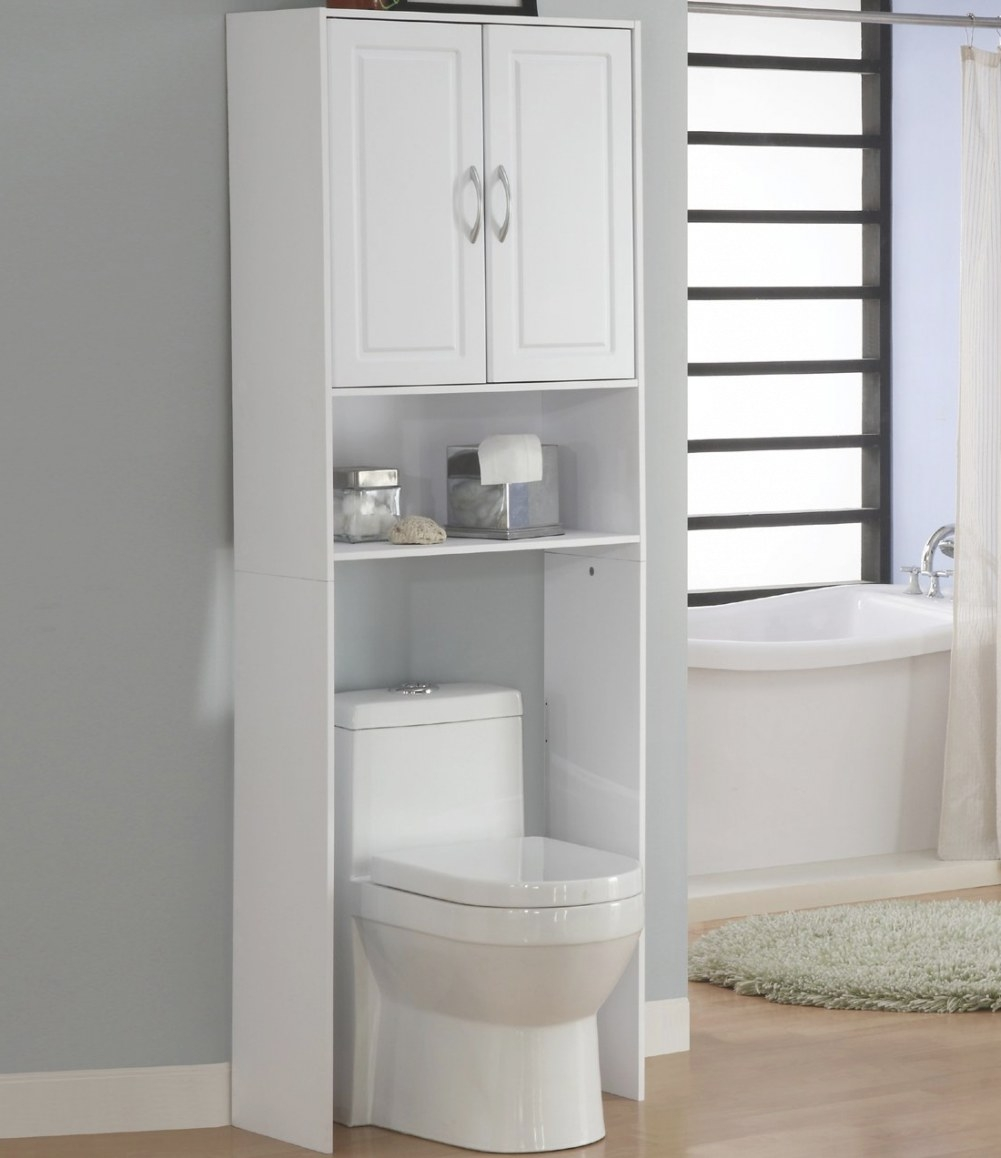 Over Commode Storage Cabinets, Bathroom Shelves Above pertaining to Over The Toilet Storage