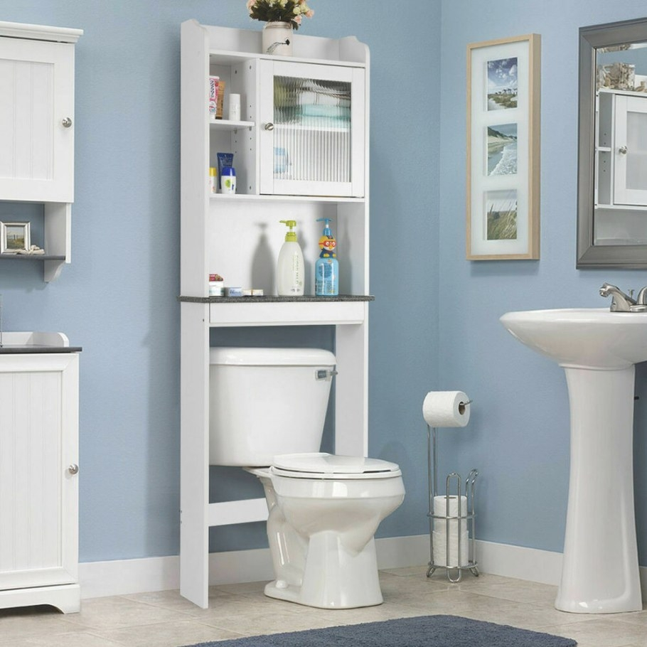 Over-The-Toilet Bath Cabinet Bathroom Space Saver Storage for Over The Toilet Storage
