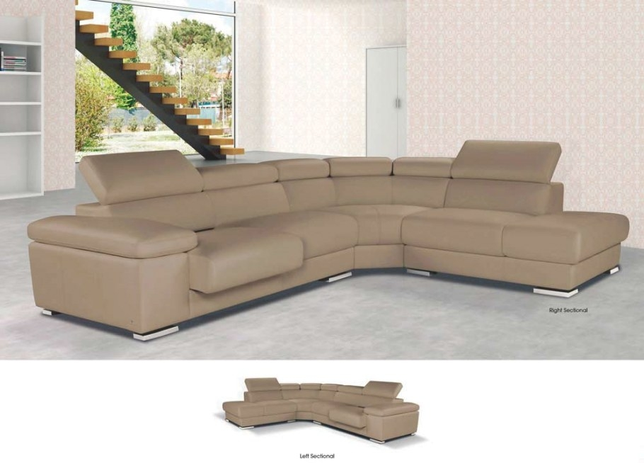 Pacifico - Top Grain Italian Leather Sectional Sofa for Top Grain Leather Sectional