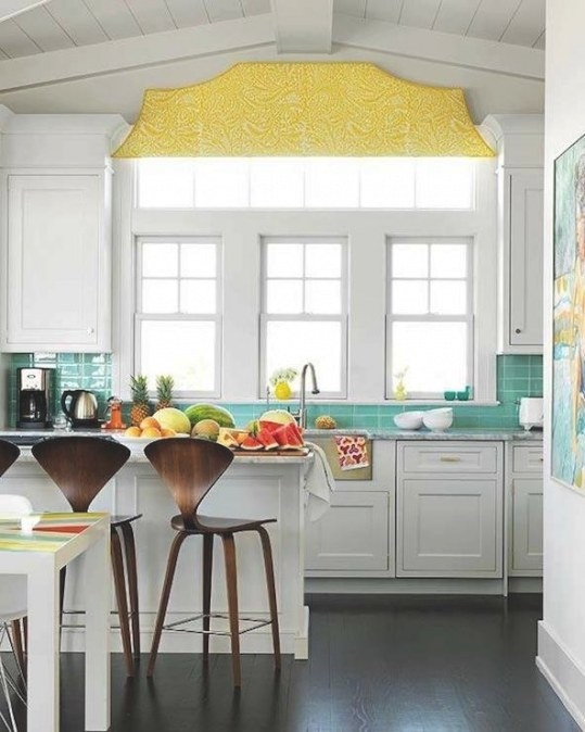 Photos Of Blue And Yellow Kitchens intended for Yellow And Turquoise Kitchen