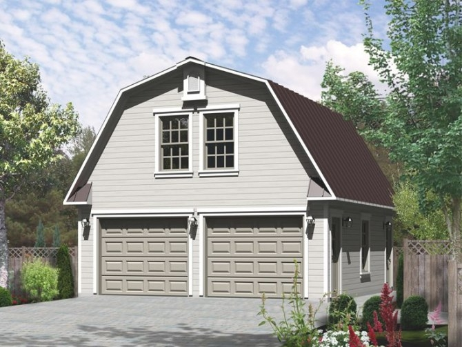 Plan 072G-0032   The House Plan Shop for How Big Is A 2 Car Garage