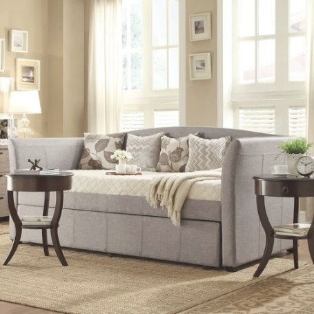 Pop Up Trundle Daybed | Wayfair throughout Daybed With Pop Up Trundle