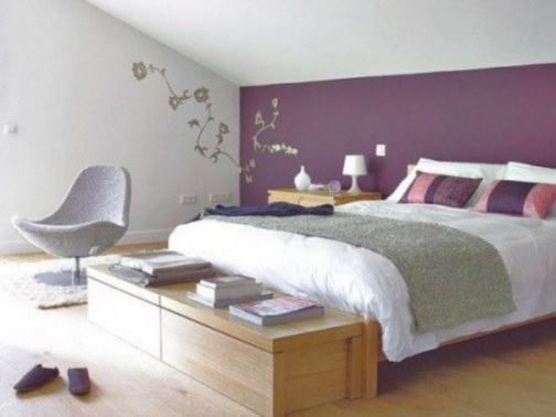 Purple Accents In Bedrooms – 51 Stylish Ideas - Digsdigs intended for Purple Accent Wall Bedroom