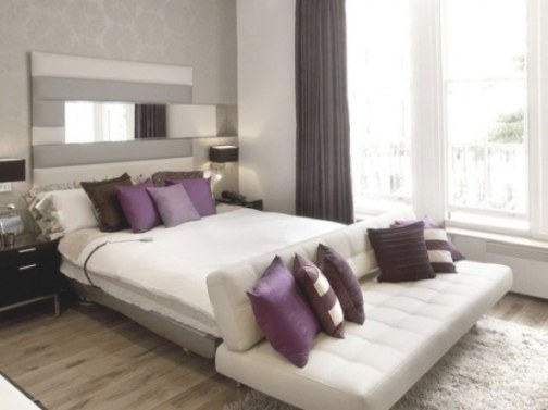 Purple Accents In Bedrooms – 51 Stylish Ideas - Digsdigs with Purple Accent Wall Bedroom