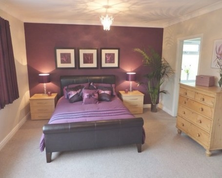 Purple Themed Rooms Ideas, Pictures, Remodel And Decor in Purple Accent Wall Bedroom