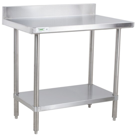 "Regency 30"" X 36"" 16-Gauge Stainless Steel Commercial Work pertaining to Stainless Steel Table Top"