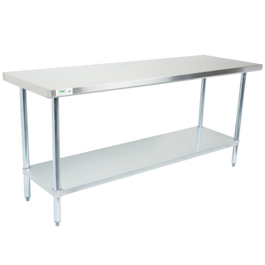 "Regency 30"" X 72"" 18-Gauge 304 Stainless Steel Commercial intended for Stainless Steel Table Top"