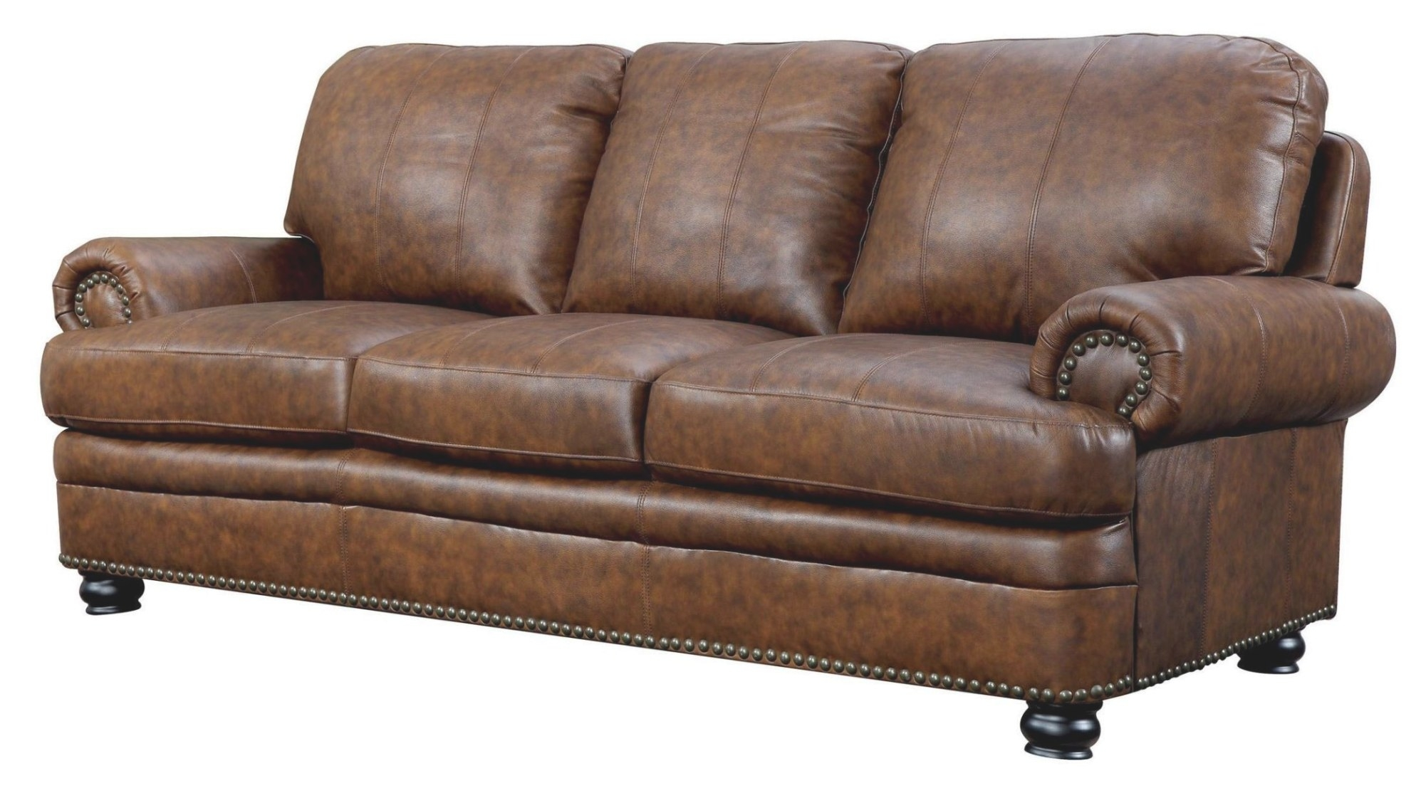 Rheinhardt Top Grain Leather Sofa - 1Stopbedrooms. intended for Top Grain Leather Sectional