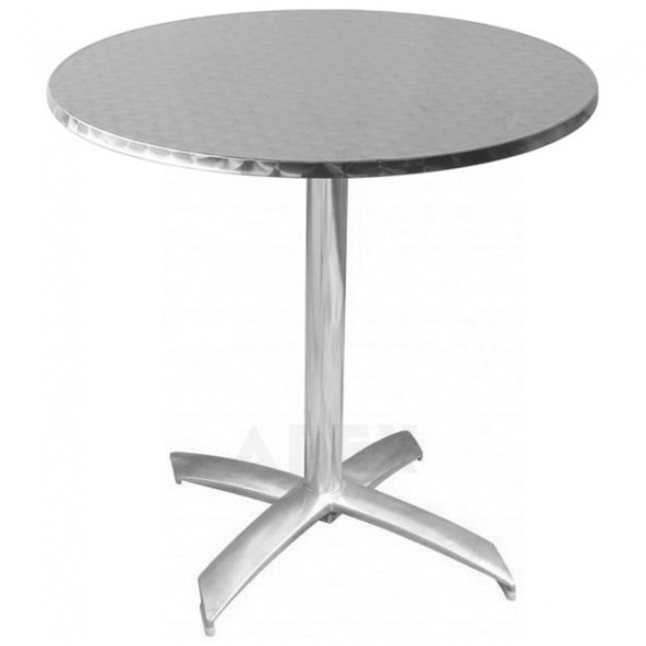 Round Stainless Steel Outdoor Table Top | Apex throughout Stainless Steel Table Top