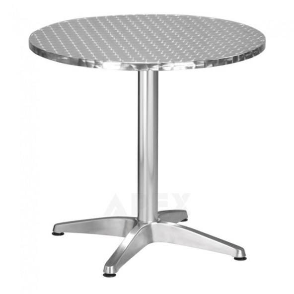 Round Stainless Steel Outdoor Table Top | Apex within Stainless Steel Table Top