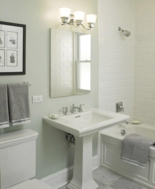 Rustic Bathroom Designs, Small White Bathroom With Tile intended for Small White Tiles For Bathrooms