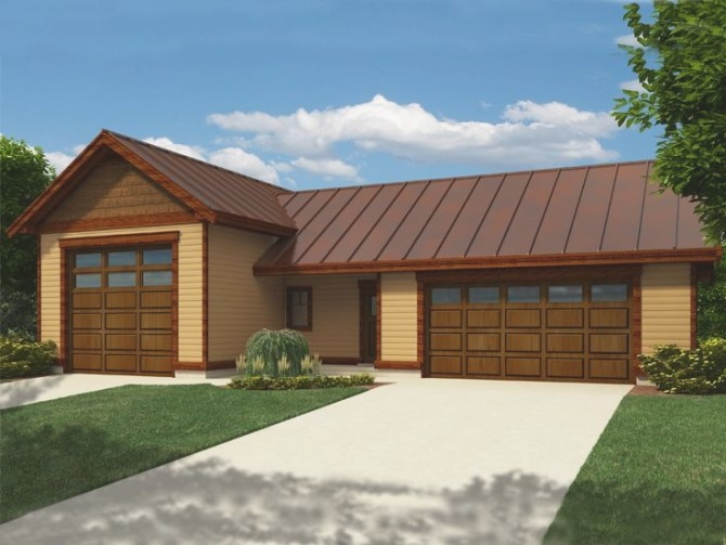 Rv Garage Plans   Rv Garage Plan With 2-Car Garage And intended for How Big Is A 2 Car Garage