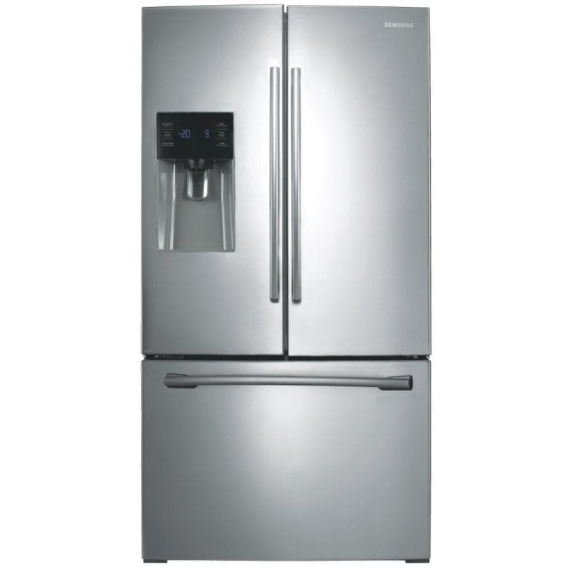Samsung 24.6-Cu Ft French Door Refrigerator With Dual Ice throughout Samsung Refrigerator Ice Maker