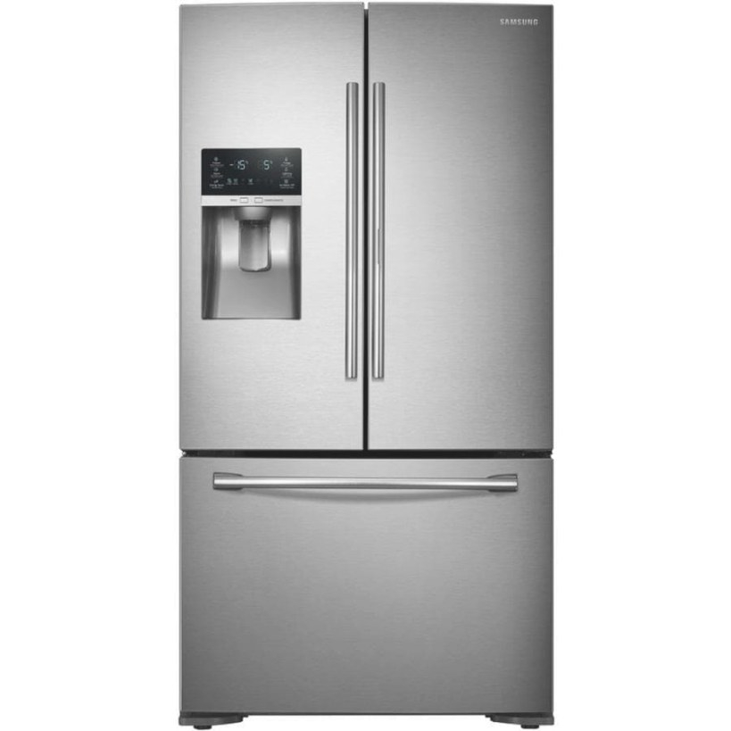 Samsung Food Showcase 22.5-Cu Ft Counter-Depth French Door within Samsung Refrigerator Ice Maker
