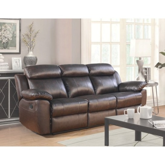 Shop Abbyson Braylen Top Grain Leather Reclining Sofa - On within Top Grain Leather Sectional