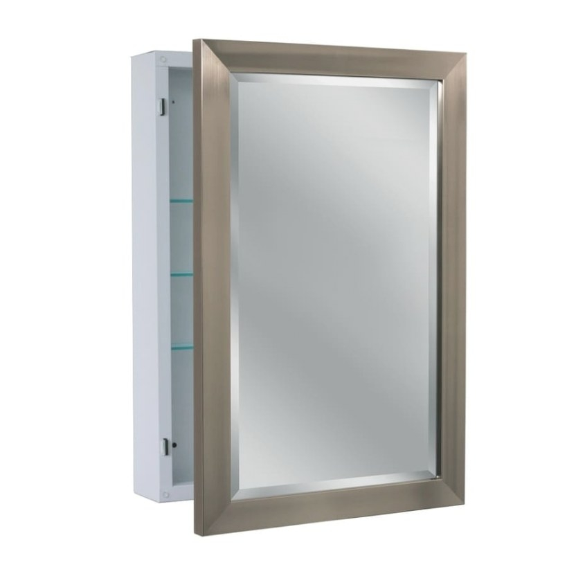 Shop Allen + Roth 22.25-In X 30.25-In Rectangle Surface pertaining to Surface Mount Medicine Cabinet