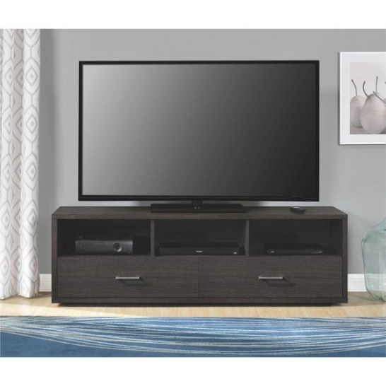 Shop Ameriwood Home Clark Cherry Espresso Tv Stand For Tvs in 70 Inch Tv Stand