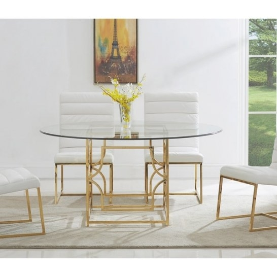 Shop Best Master Furniture 60 Inch Round Glass Dining for Round Glass Dining Table