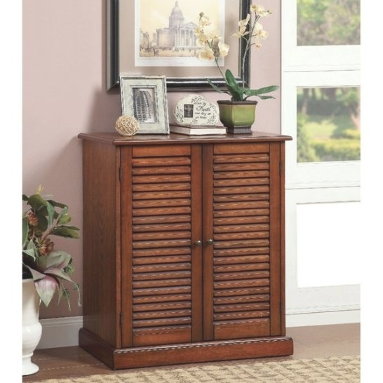Shop Double Door Solid Wood Shoe Cabinet With Blocked intended for Shoe Cabinet With Doors
