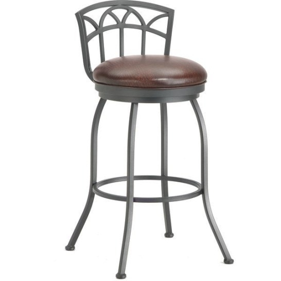 Shop Fiesole Low Back Swivel Counter Stool - Free Shipping within Swivel Bar Stools With Backs